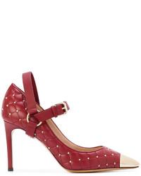 rote Leder Pumps von Valentino