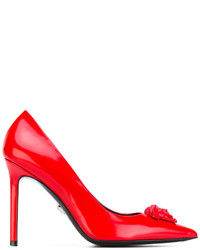 rote Leder Pumps von Versace