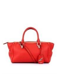 rote Leder Reisetasche