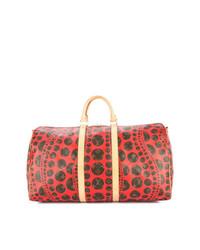 rote Leder Reisetasche von Louis Vuitton Vintage