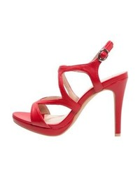 rote Leder Sandaletten von Anna Field