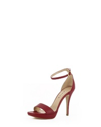 rote Leder Sandaletten von Evita