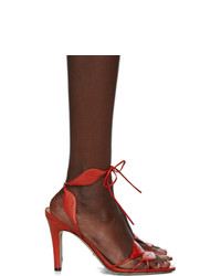 rote Leder Sandaletten von Gucci