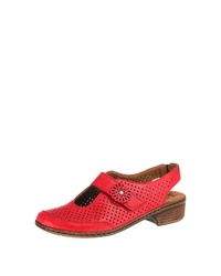 rote Leder Sandaletten von Jenny
