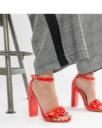 rote Leder Sandaletten von LOST INK