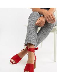 rote Leder Sandaletten von Park Lane