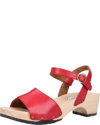 rote Leder Sandaletten von Paul Green