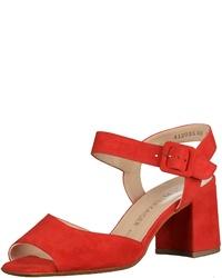 rote Leder Sandaletten von Peter Kaiser