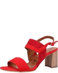 rote Leder Sandaletten von Tamaris