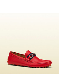 Rote Leder Slipper