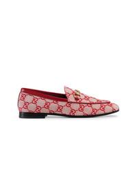 rote Leder Slipper von Gucci