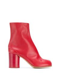 rote Leder Stiefeletten von Maison Margiela