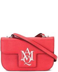 rote Leder Umhängetasche von Alexander McQueen