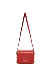 rote Leder Umhängetasche von Burberry
