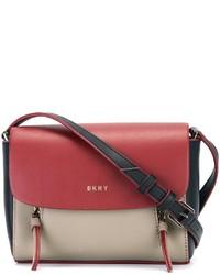 rote Leder Umhängetasche von DKNY