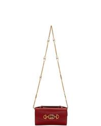 rote Leder Umhängetasche von Gucci
