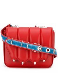 Rote Leder Umhängetasche von Marco De Vincenzo