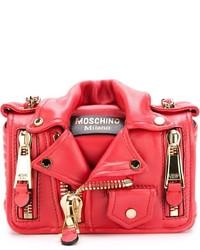 rote Leder Umhängetasche von Moschino