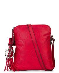 rote Leder Umhängetasche von SURI FREY