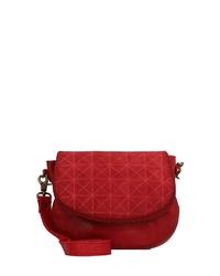 rote Leder Umhängetasche von Taschendieb Wien
