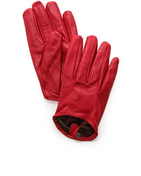 rote Lederhandschuhe von Carolina Amato