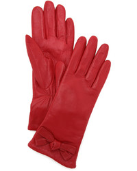 rote Lederhandschuhe von Kate Spade