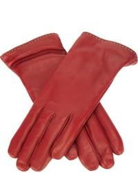 rote Lederhandschuhe von P.A.R.O.S.H.