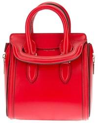rote Lederhandtasche von Alexander McQueen