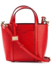 rote Lederhandtasche von Dolce & Gabbana