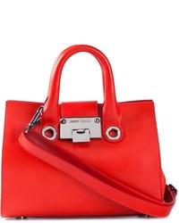 rote Lederhandtasche von Jimmy Choo