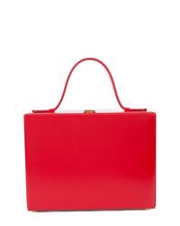 rote Lederhandtasche von MARK CROSS