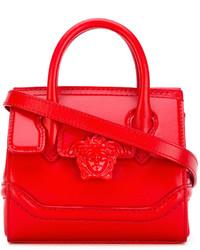 rote Lederhandtasche von Versace