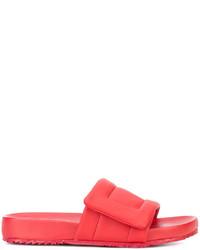 rote Ledersandalen von Maison Margiela