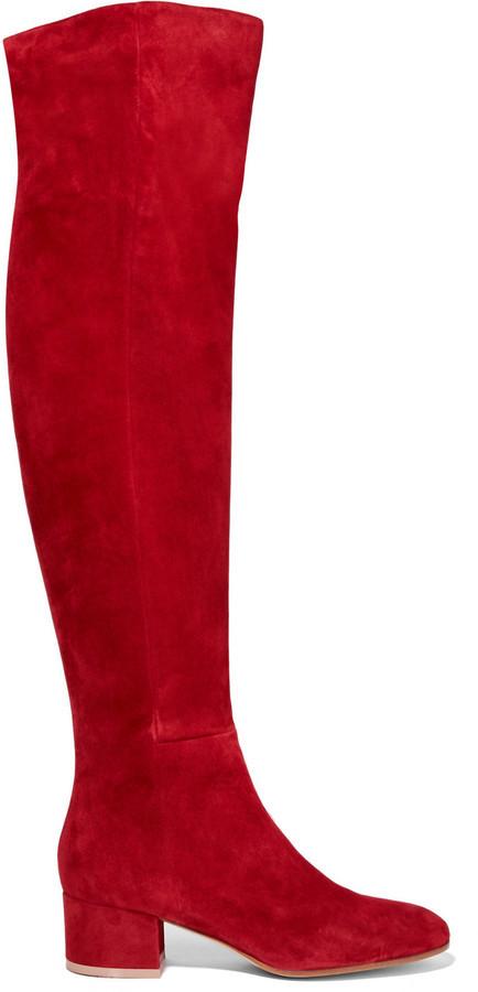 rote Overknee Stiefel aus Wildleder von Gianvito Rossi   Wo zu ... 1c69081d79