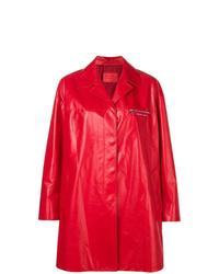 rote Regenjacke von Prada