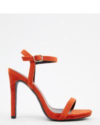 rote Samt Sandaletten