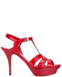 rote Sandalen von Saint Laurent