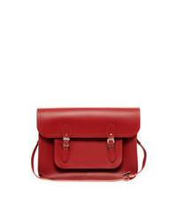 rote Satchel-Tasche aus Leder von Cambridge Satchel Company