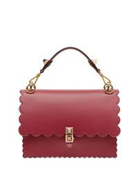 rote Satchel-Tasche aus Leder von Fendi