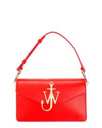 rote Satchel-Tasche aus Leder von JW Anderson