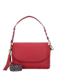 rote Satchel-Tasche aus Leder von Marc O'Polo