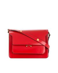 rote Satchel-Tasche aus Leder von Marni