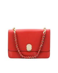 rote Satchel-Tasche aus Leder von Tila March