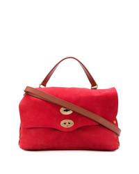 rote Satchel-Tasche aus Leder von Zanellato