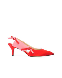 rote Satin Pumps von Paul Andrew