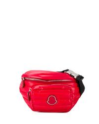 rote Segeltuch Bauchtasche von Moncler