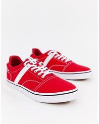 rote Segeltuch niedrige Sneakers von Jack & Jones