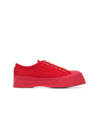 rote Segeltuch niedrige Sneakers von Marni