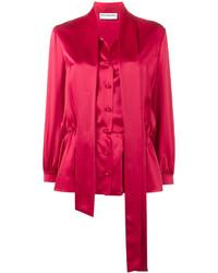 rote Seide Bluse von Balenciaga