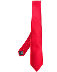 rote Seidekrawatte von Lanvin